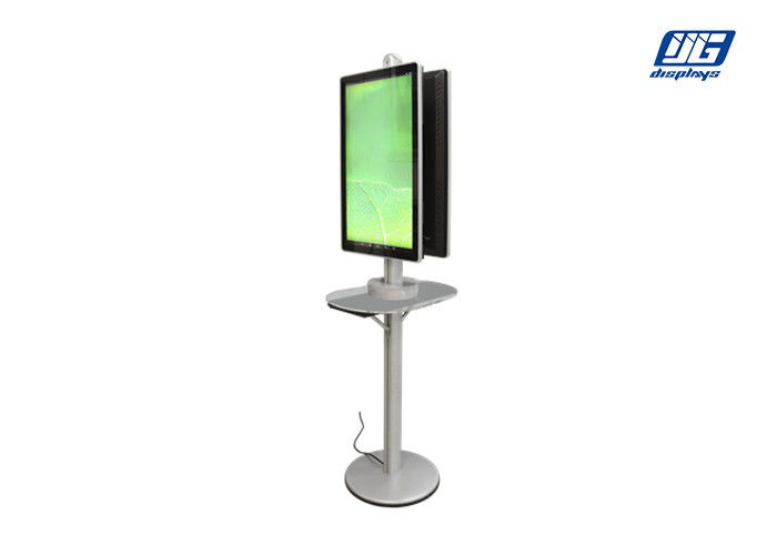 High Resolution LCD Commercial Phone Charging Station 32 Inche Double Sided